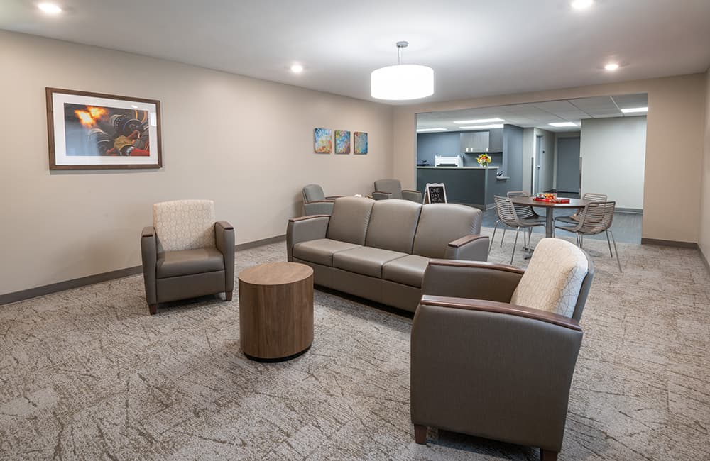 ethan crossing photo gallery seating area